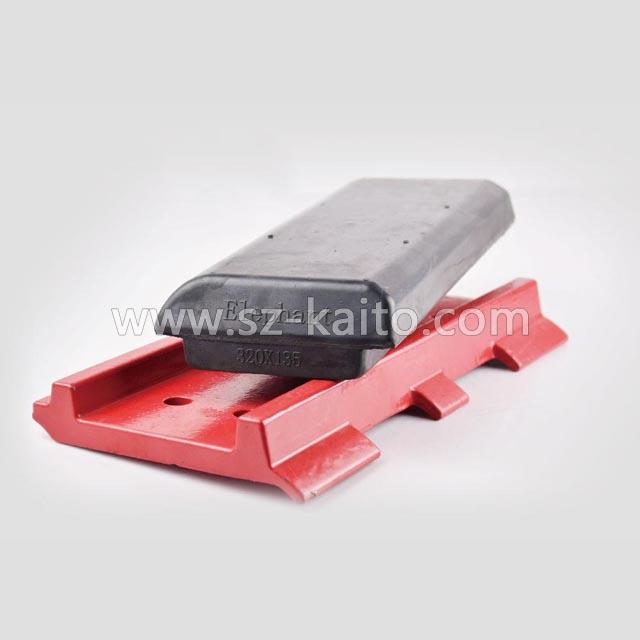 摊铺机分体式橡胶履带板胶块